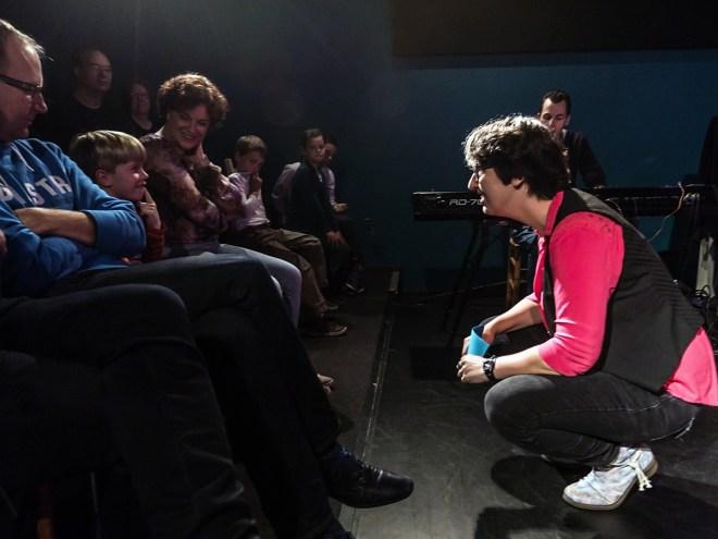 Dulcinea jong publiek geeft inbreng bij theatersport-voorstelling