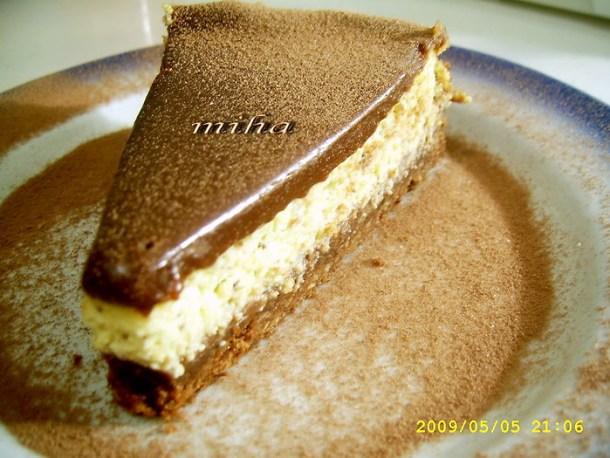 Prajitura cu branza si ciocolata