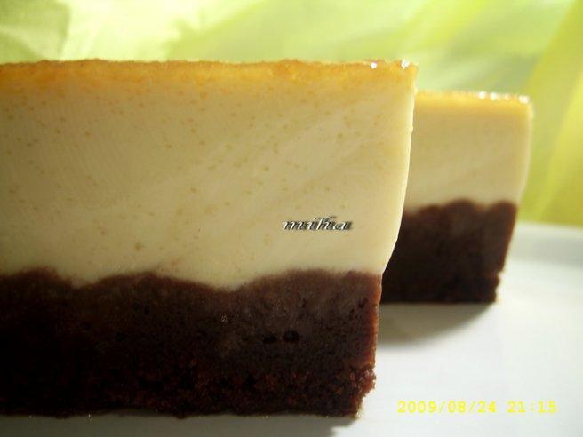 Tort cu crema de zahar ars si blat de cacao