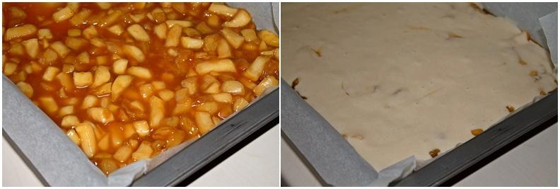 Preparare prajitura cu mere caramelizate