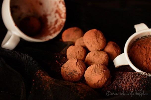 Trufe din dulce de leche cu cacao