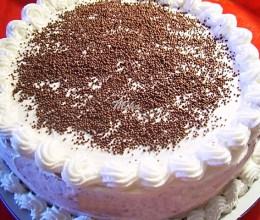 Tort cu crema dubla de ciocolata