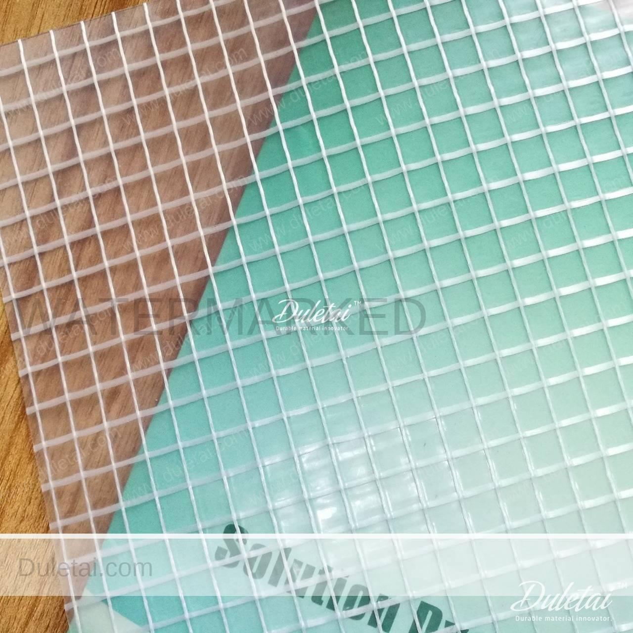 Transparent Mesh Tarps Clear Type Pvc Laminated Vinyl
