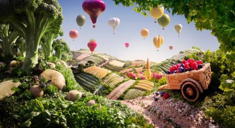 Ngỡ ngàng phong cảnh làm từ đồ ăn