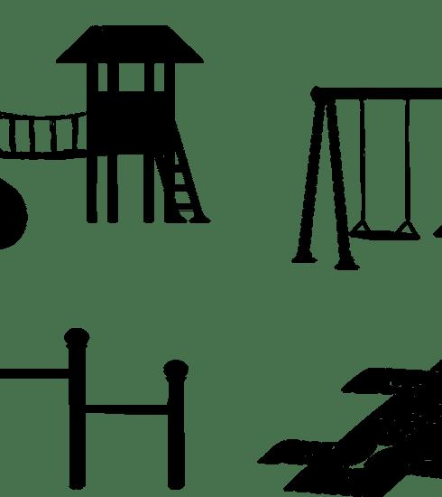 Playground Swings Hopscotch Slide  - 7089643 / Pixabay
