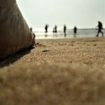 Sunset Sea Beach Sand Waves Foot  - NisooJadhav / Pixabay