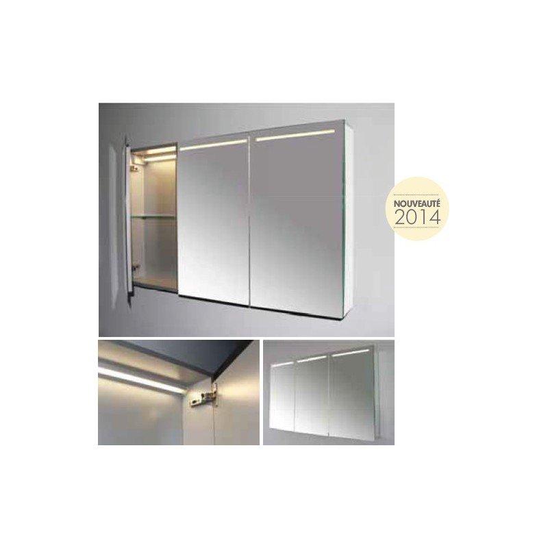 Armoire Miroir Tryptique A Led Luce 70 Exposition De Salles De Bain Cuisines Robinetterie Et Carrelages