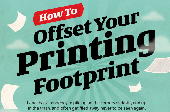 Paper printing infographic