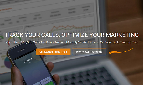 AddSource Call Tracking Platform Features [Infographic]