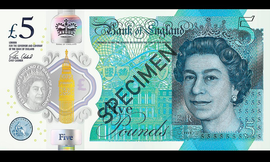 Have No Fear, The New Plastic Fiver Is Here! Five Pound Note