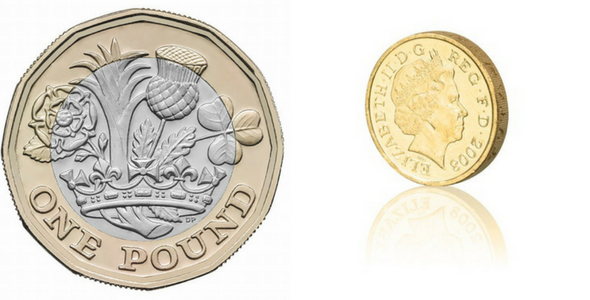New Pound Coin Could Cost Britain £1.1bn - British 12 sided pound coin - Image via Flickr - By mwmbwls