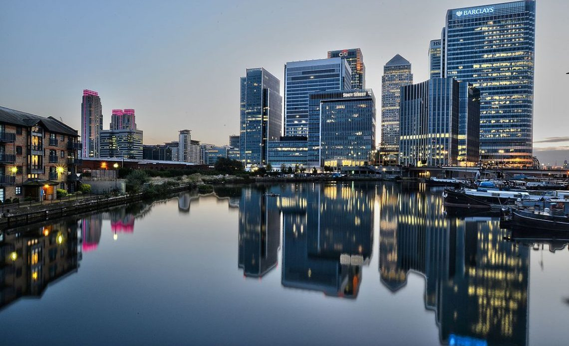 Is London The UK's Best City For Business? Canary Wharf After Sunset