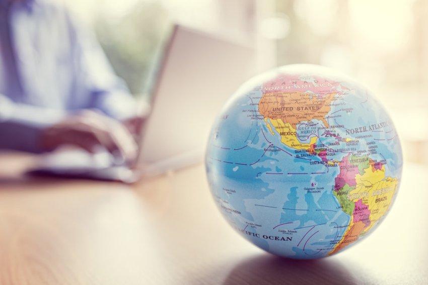 Business Laptop World Globe