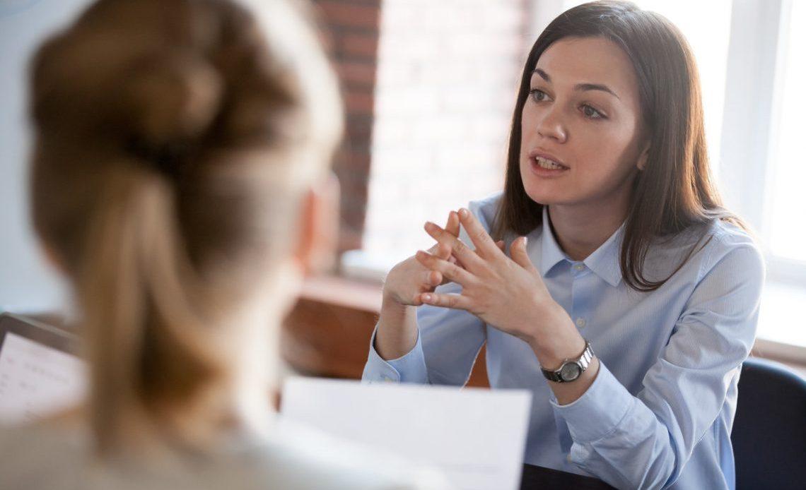 Women, Interview, Meeting