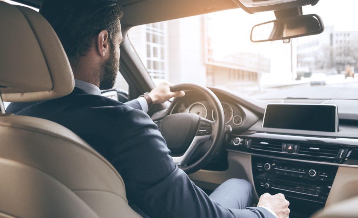 Business Man, Car