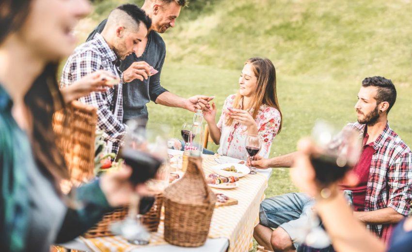 Friends, Wine, Tuscany