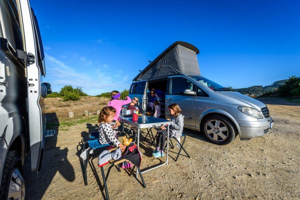 Campervan, Family Picnic