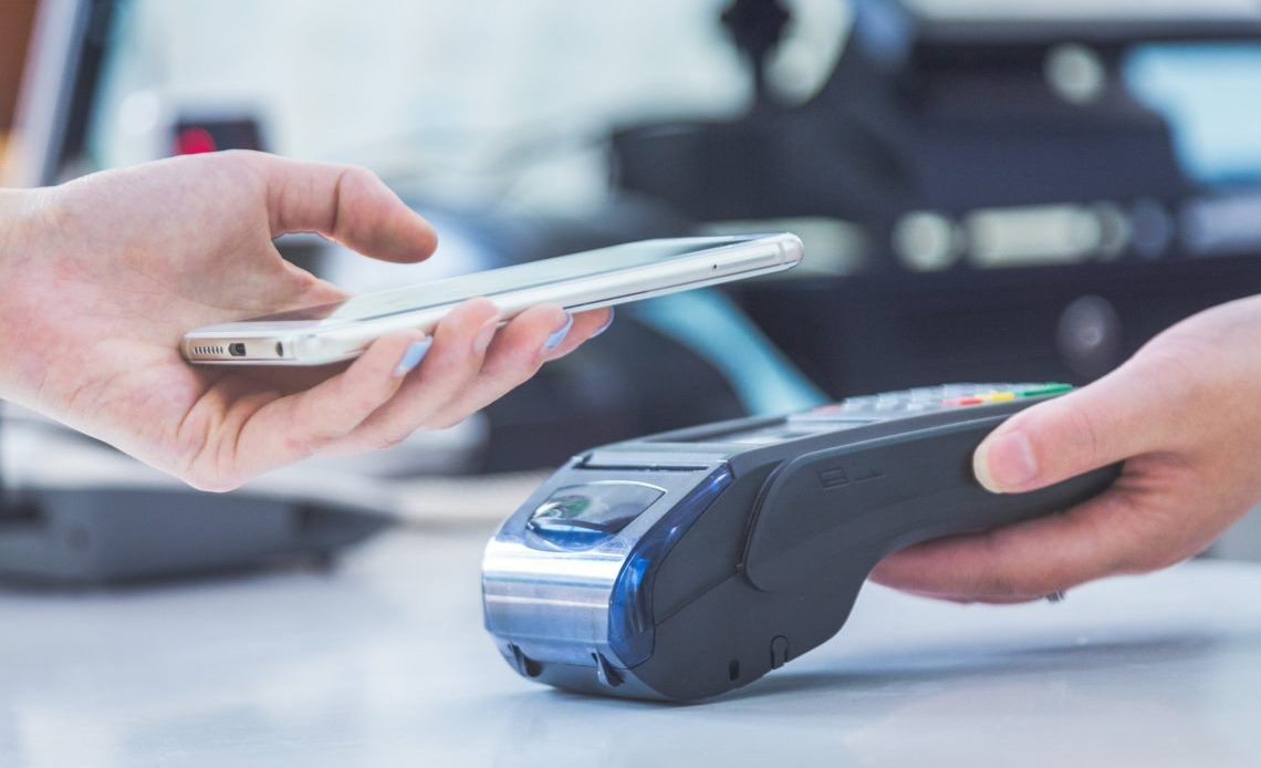 Mobile phone cashless payment device