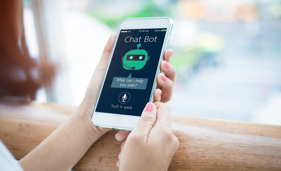 Mobil phone using chatbot