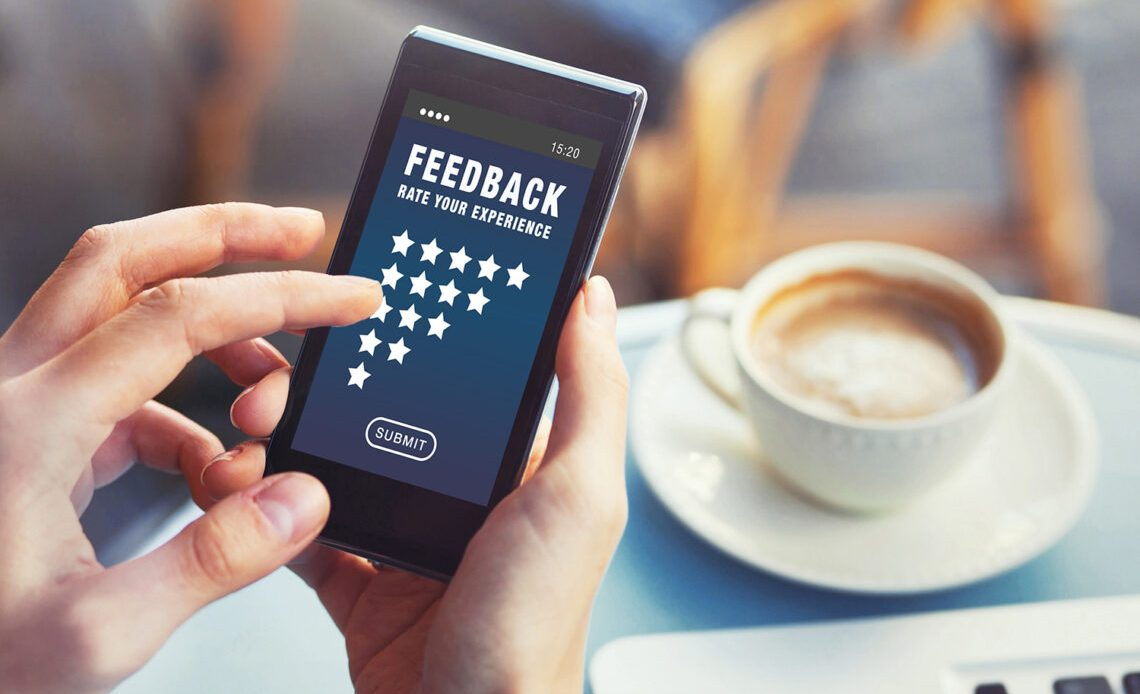 Leaving feedback/review on mobile phone