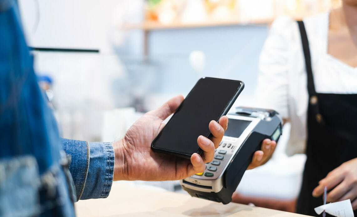 Cashless payment using phone
