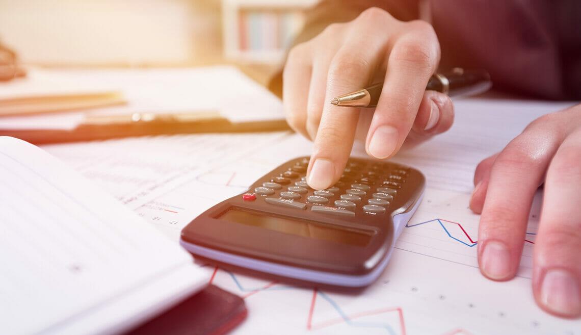 Inflation, calculator, graph