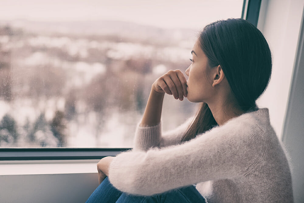 Women looking out of the window
