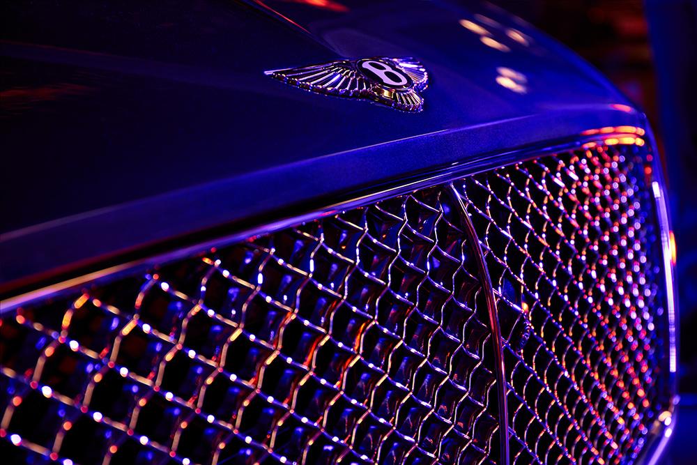 Blue Bentely Luxury Car