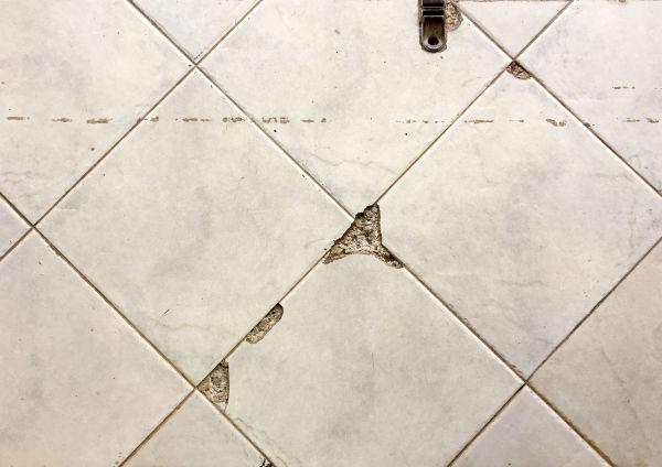 chipped tile
