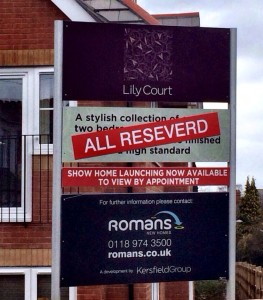 How worrying is it when an Estate Agent can't spell reserved