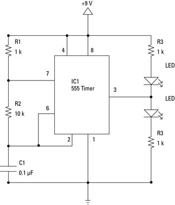 electronics components integrated circuits in schematic