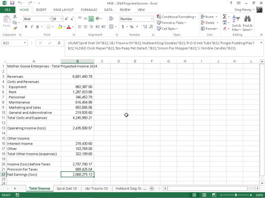 How To Create A Summary Worksheet In Excel