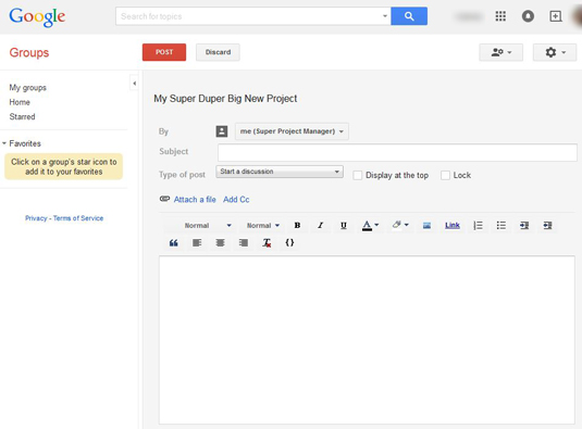 How To Post Messages In Google Groups Dummies