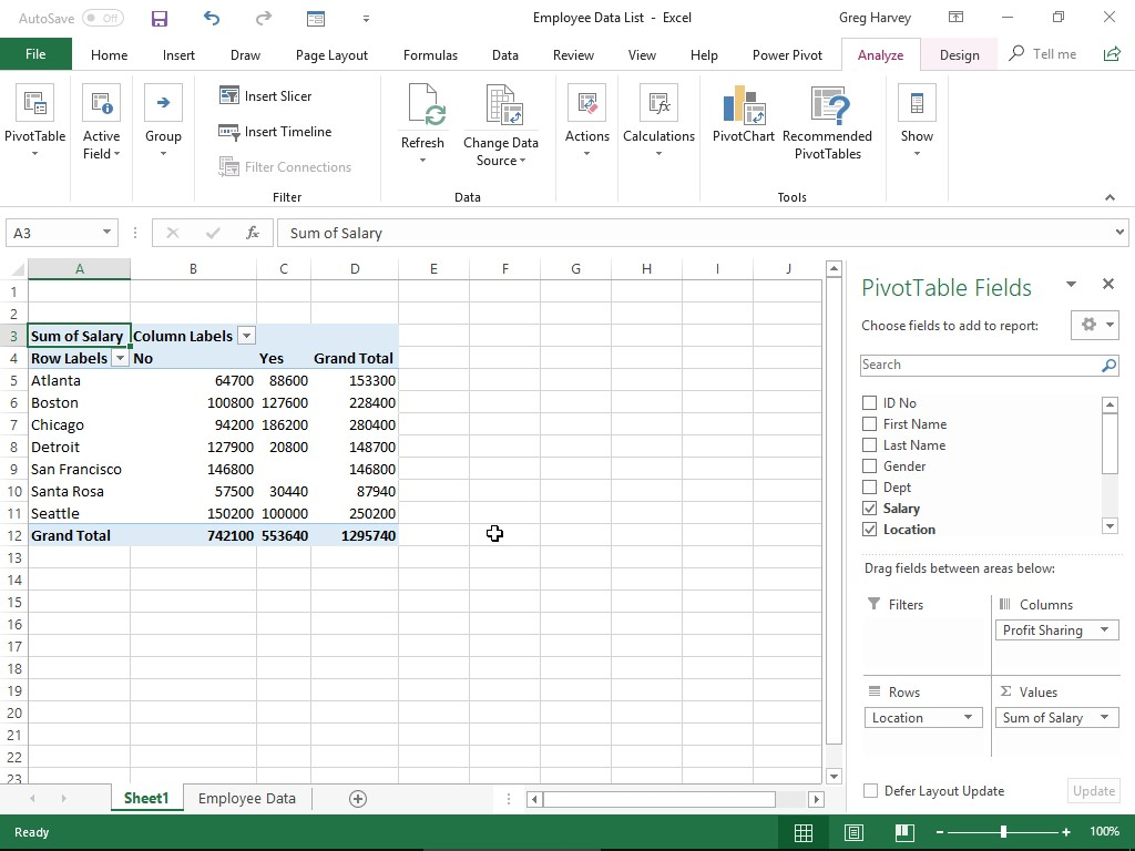 Excel All In One For Dummies Cheat Sheet
