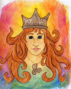 drawing of a queen