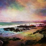 photomanipulated image of a beach