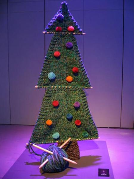 Alternative Christmas Tree Ideas Knit Knitting Yarn Non Traditional