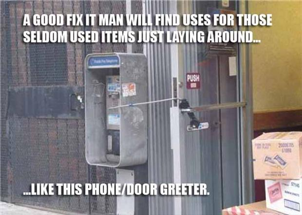 2 funny door greeter, fixed it