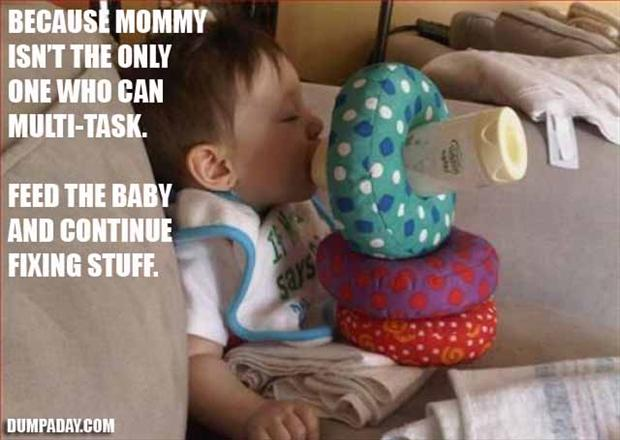 baby drinking out of bottle, fixed it