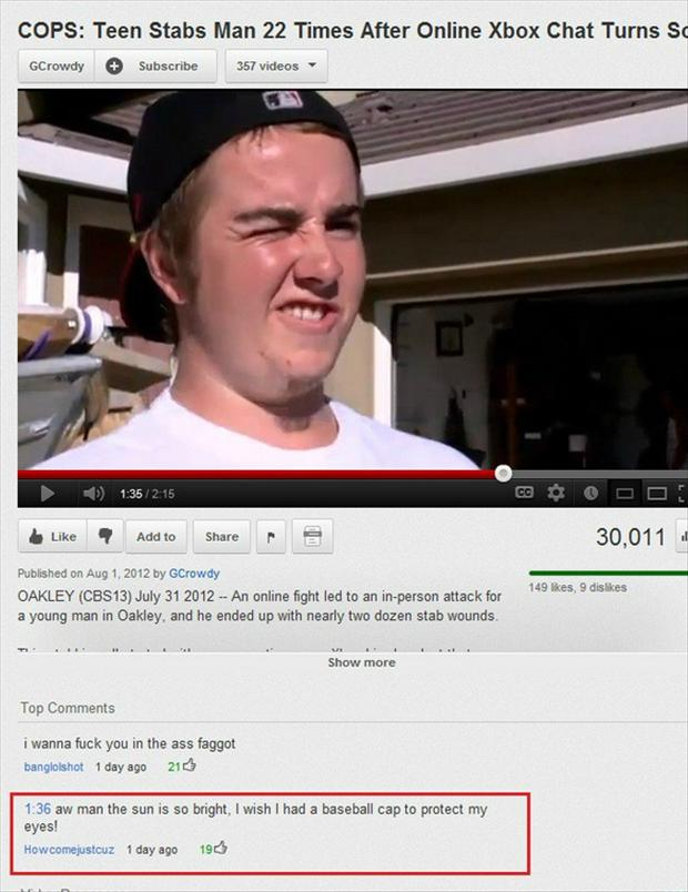 sun is bright, funny youtube comments