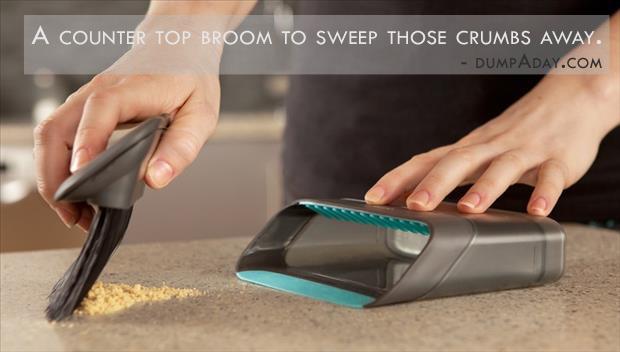 Genius Ideas- countertop broom