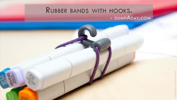 Genius Ideas- rubber bands with hooks