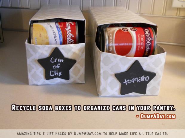 DumpADay Life Hacks- Can Pantry Organizing