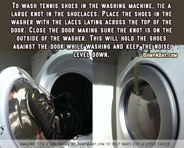 DumpADay Life Hacks- Washing Tennis Shoes