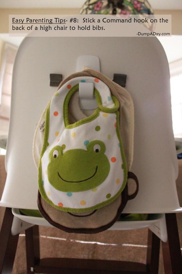 Easy Parenting Tips 8- Bib holder