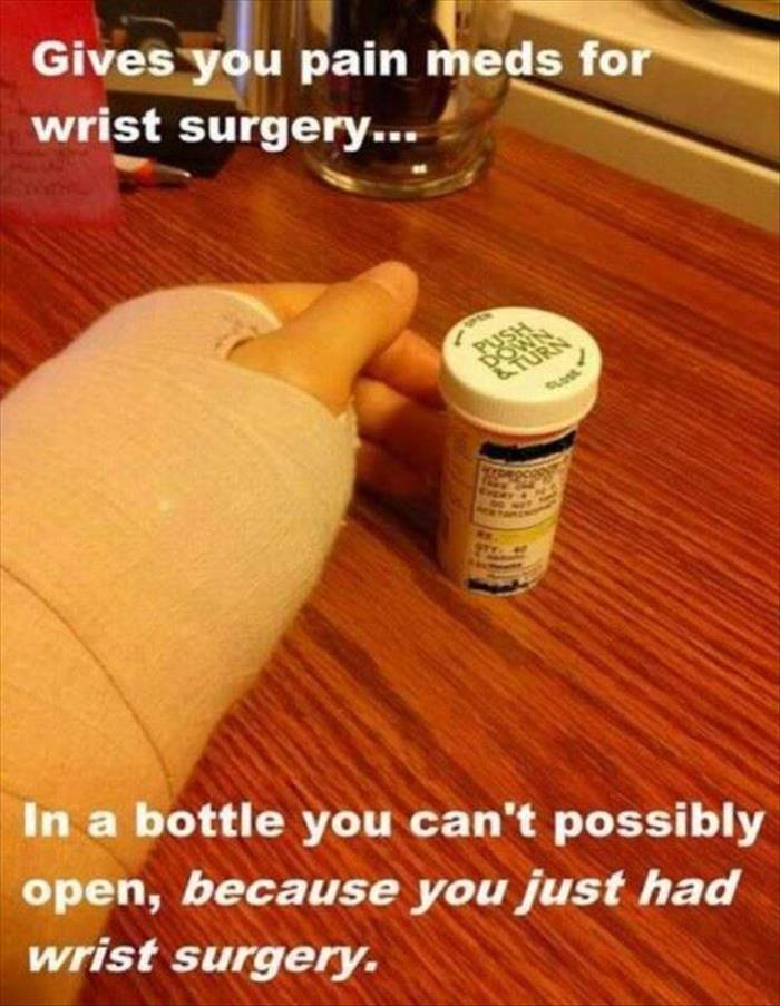 Image result for carpal tunnel surgery funny images