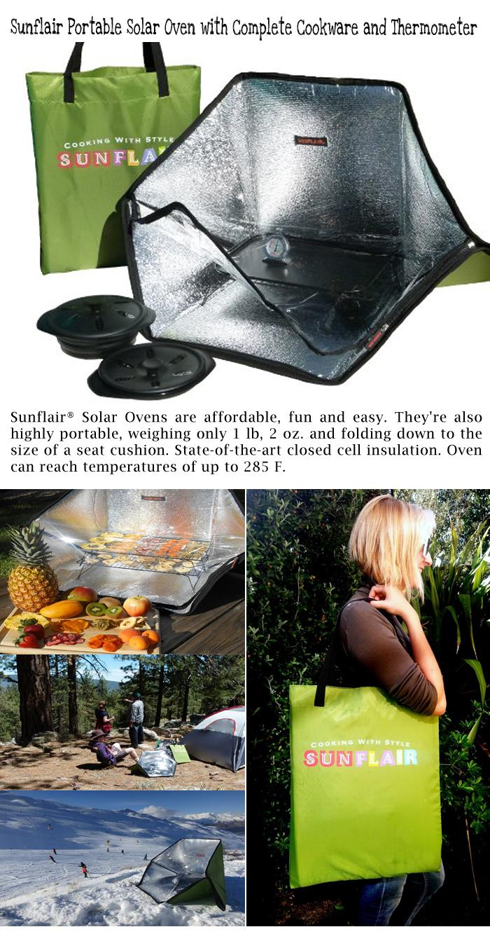 3 Sunflair Portable Solar Oven with Complete Cookware and Thermometer