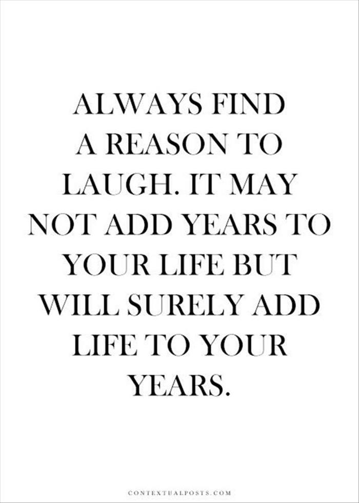 Always find a reason to laugh // Powerful Posivity
