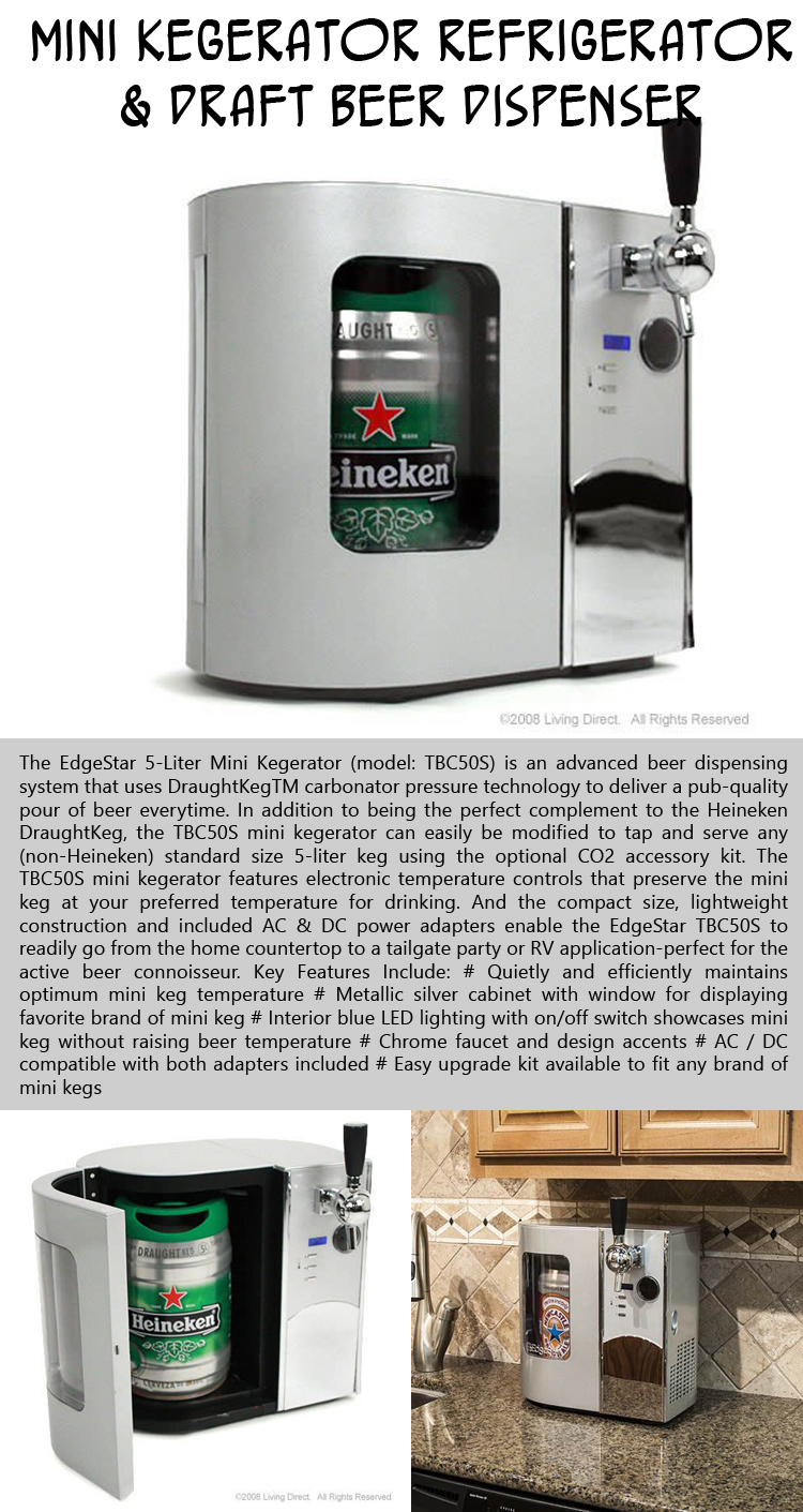 Mini Kegerator Refrigerator