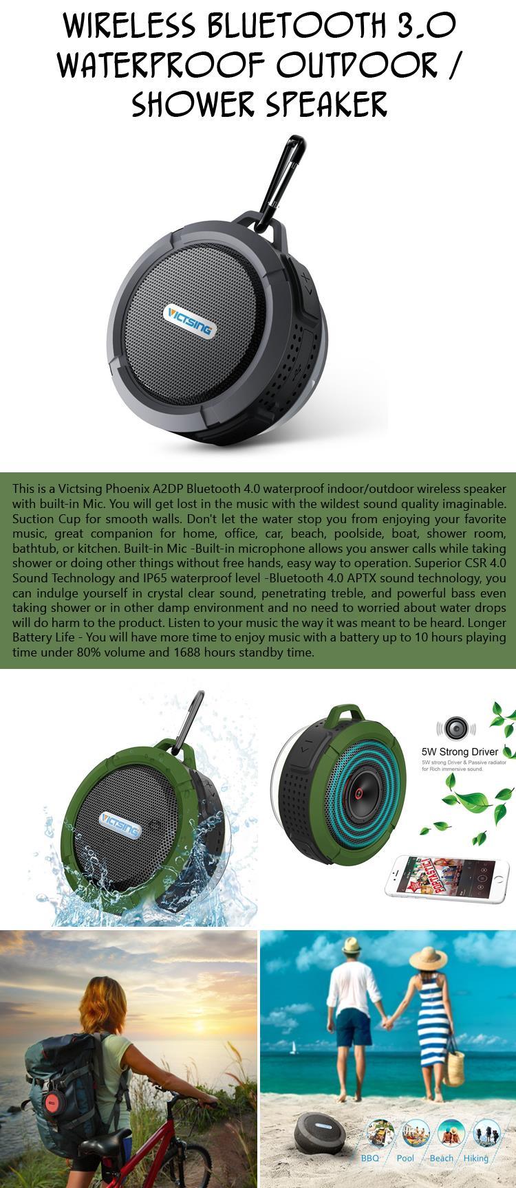 Wireless Bluetooth Waterproof Outdoor  Shower Speaker